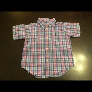 Polo Ralph Lauren Plaid Short Sleeve Button Up 2T